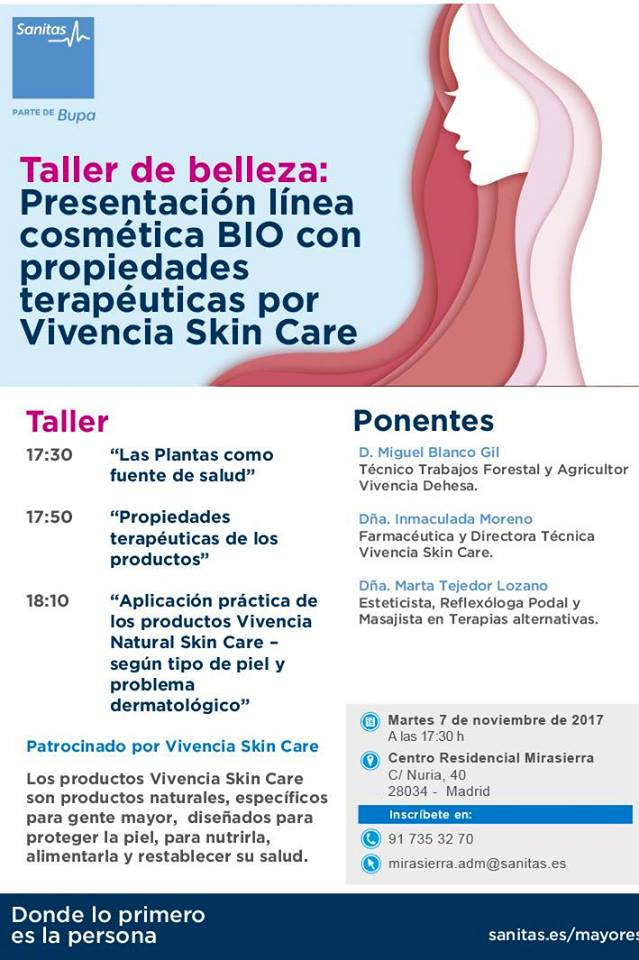 Curso de belleza Vivencia Natural Skin Care