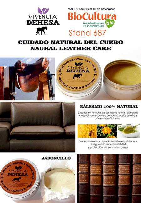 Bálsamo y Jaboncillo para el cuidado especial del cuero, elaborados con formulas de cosmética natural.