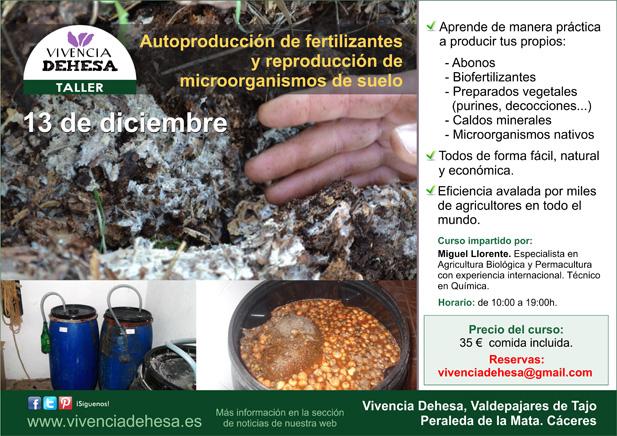 TALLER Autoproducción de fertilizantes. Vivencia Dehesa